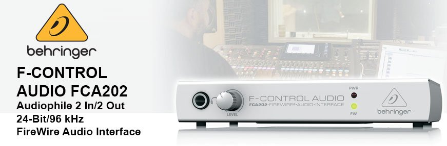 Behringer F-Control Audio FCA202 Audio interface